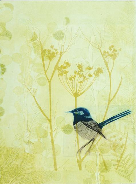 , 'Blue wren in the fennel,' 2019, Queenscliff Gallery & Workshop
