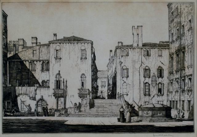 Louis Conrad Rosenberg, 'Campo, Venice', ca. 1920, Private Collection, NY