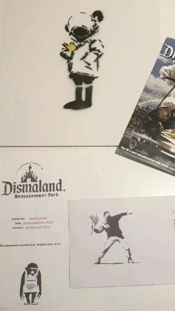 "Banksy, 'BANKSY DISMALAND ""DIVER HELMET GIRL"" WITH COA', 2015, Arts Limited"