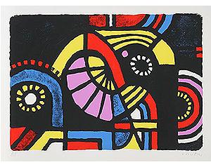 Kyohei Inukai (1913-1985), 'Coney Island   ( limited time $150.00 )', 1979, Broadway fine Art