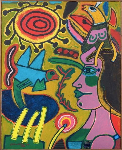 Corneille, 'Profil de femme au colour de l'été ', 1994, Galleri GKM