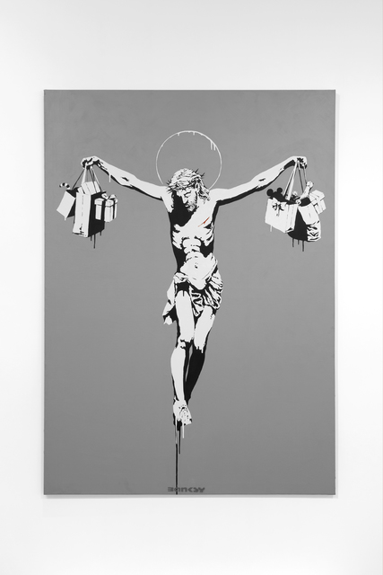 Banksy, 'Christ with Shopping Bags', 2004, Lazinc