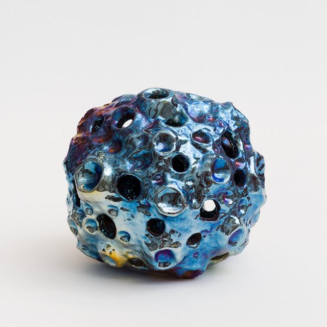 Julia Kunin, 'Blue fumed Moon Lamp (small hanging)', 2018, McClain Gallery