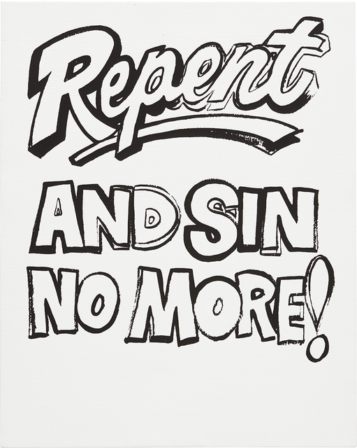 Andy Warhol, 'Repent and Sin No More!', ca. 1985-1986, Mixed Media, Synthetic polymer paint and silkscreen ink on canvas, Phillips