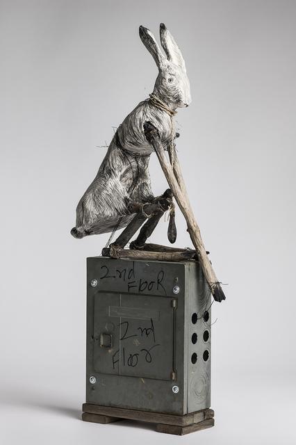 Elizabeth Jordan, 'Sculpture of Rabbit sitting on electrical box: 'Federal Pacific'', 2018, Ivy Brown Gallery