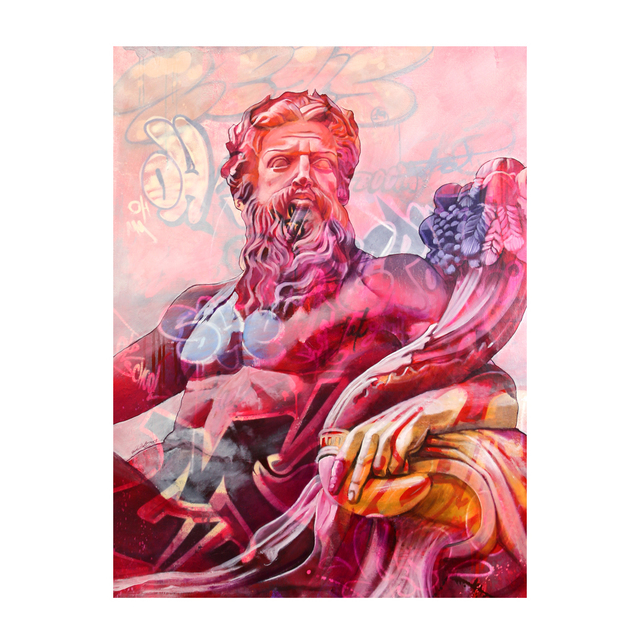 PichiAvo, 'Zeus Lefkos', 2019, Station 16 Gallery