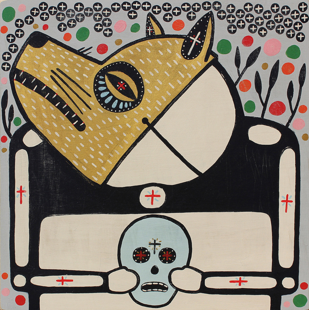 Mike Egan, 'The Golden Wolf Held A Skull', 2018, ANNO DOMINI