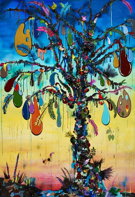 , 'Tree of paint,' 2015, Galerie Dukan