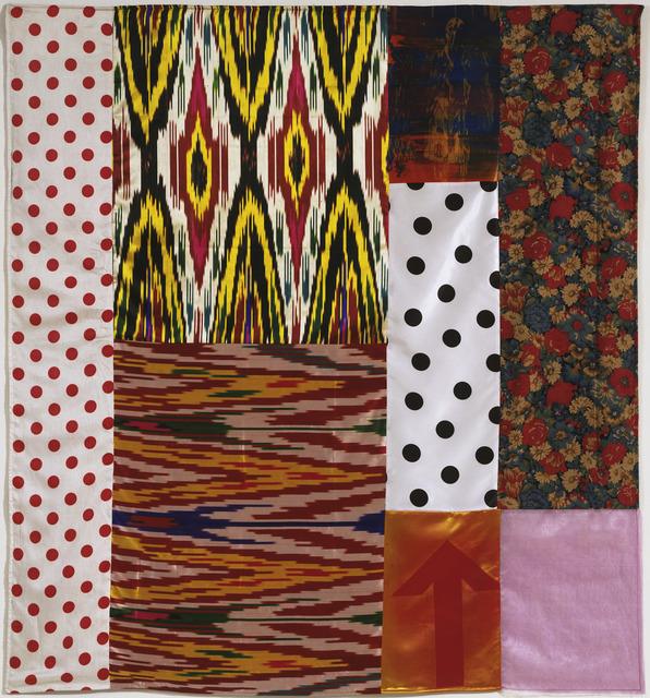 Robert Rauschenberg, 'Samarkand Stitches II', 1988, Print, Unique screen print and fabric collage, Gemini G.E.L.