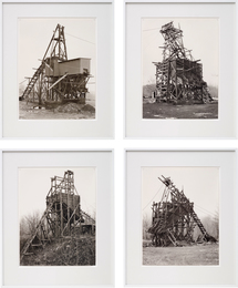 Bernd & Hilla Becher, 'Four works: (i) Zimmermann Coal Co., Ravine, Schuylkill Country; (ii) Scade Coal Co., Goodspring Mountains, Schuylkill Country; (iii) Scheib & Walacavage, No. 2, Joliett, Schuykill Country; (iv) Minnich Coal Co., Goodspring Mountains, Schuykill Country,' 1983, Phillips: 20th Century and Contemporary Art Day Sale (February 2017)