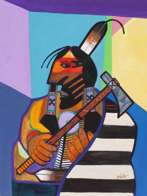, 'Striking Eagle Wearing Chief Blanket,' 2017, Ventana Fine Art
