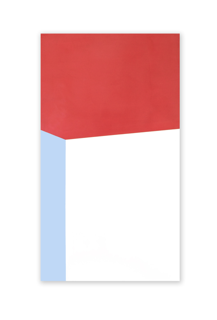, '2 Stacked Blocks Red Blue White,' 2016, Richard Levy Gallery