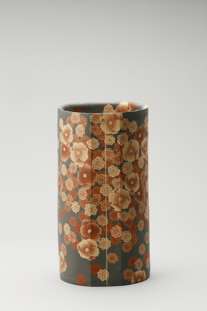 , 'Mumyoi Neriage Cylindrical Jar with Flower Patterns,' 2016, Onishi Gallery