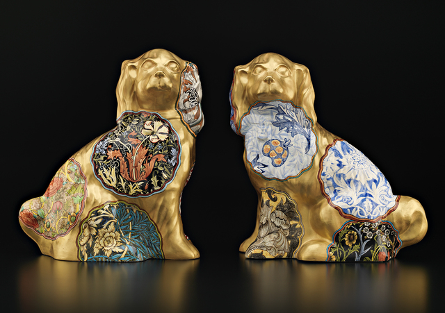, 'Pair of Camouflage Dogs (William Morris),' 2015, Ferrin Contemporary