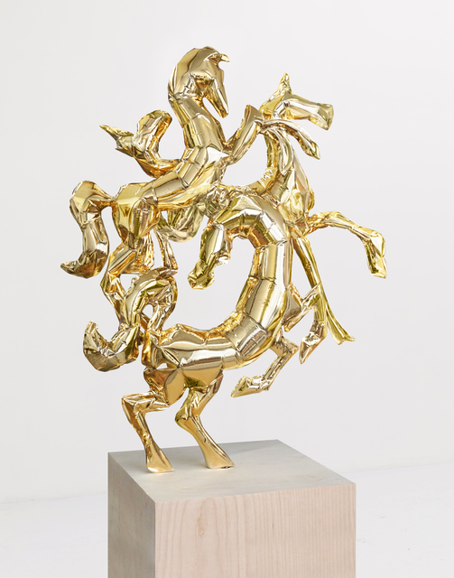 , 'Horses of Helios (Gold),' 2018, CURRO
