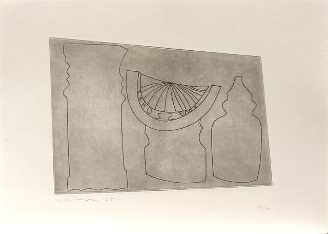 , 'Turkish sundial between two Turkish forms,' 1967, Bernard Jacobson Gallery