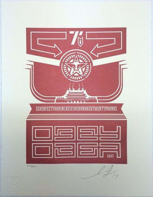 Shepard Fairey, 'Chinese Banner - Letterpress', 2014, Blackline Gallery