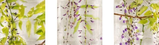 , 'Violet Sway (Triptych),' 2016, Gallery Henoch