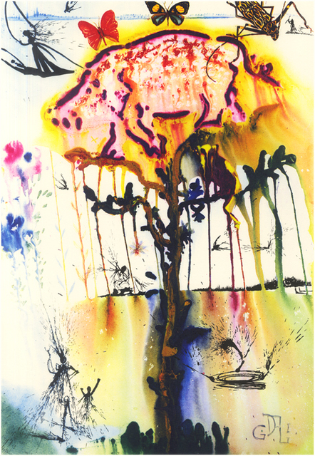 Salvador Dalí, 'Pig And Pepper (Tree)', 1969, Drawing, Collage or other Work on Paper, Heliogravure, Dali Paris