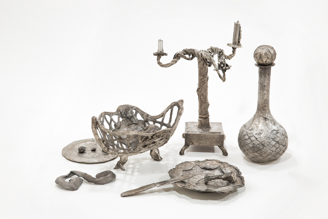 Liz Glynn, 'Still Life Composition (After The Red Inn)', 2014, Sculpture, Bronze with silver nitrate patina, Paula Cooper Gallery