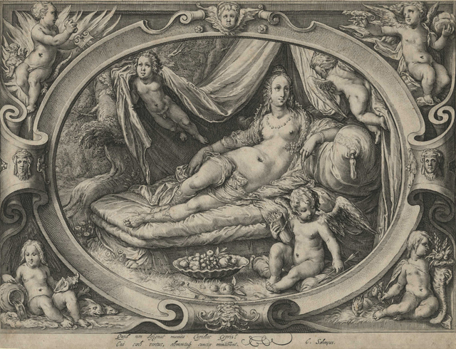, 'Venus on Her Couch as Eros Fills His Quiver with Arrows [After Goltzius],' ca. 1600, Childs Gallery