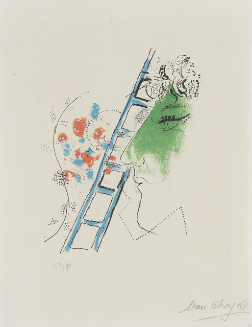 Marc Chagall, 'L'ÉCHELLE', bromer kunst