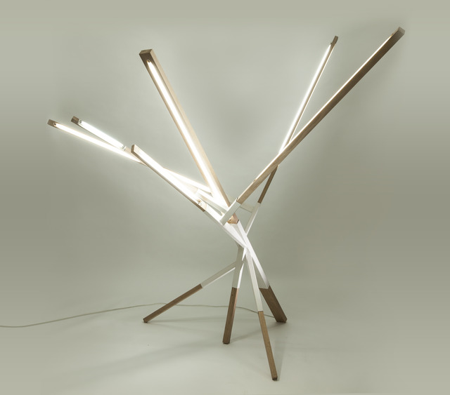 """Sebastián Beltrán, '""""Motion"""" lamp,' 2014, Casa Gutiérrez Nájera"""
