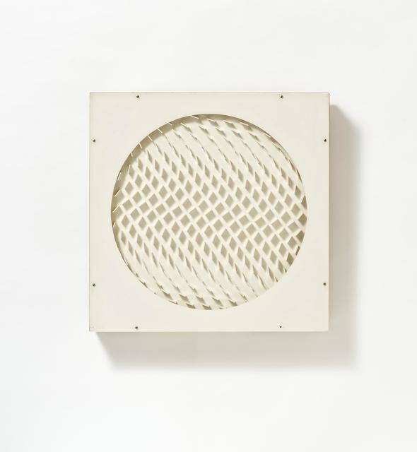 Hartmut Böhm, 'Quadratrelief', 1967, Mixed Media, White acrylic glass, wood, paint, wired, Van Ham