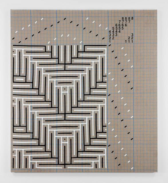 , 'Black and White Shadow Weave Draft Graph,' 2016, PRAZ-DELAVALLADE