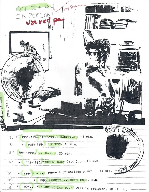 , 'Program Note (Oct. 27, 1994; annotated),' 1994, San Francisco Cinematheque