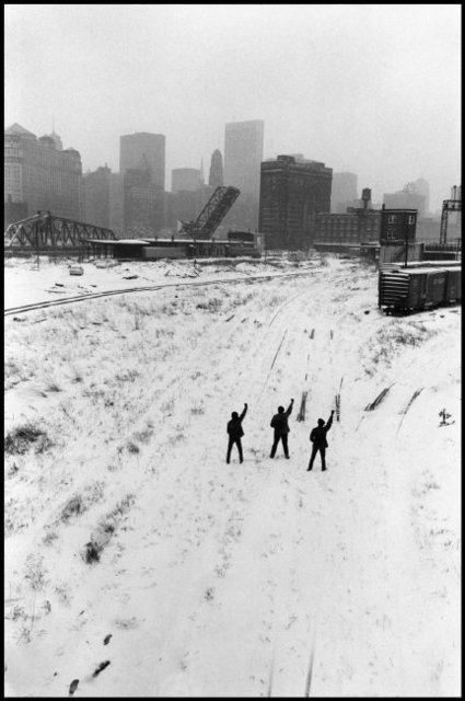 , 'Black Panthers protesting. Illinois, Chicago. USA  ,' 1969, Magnum Photos