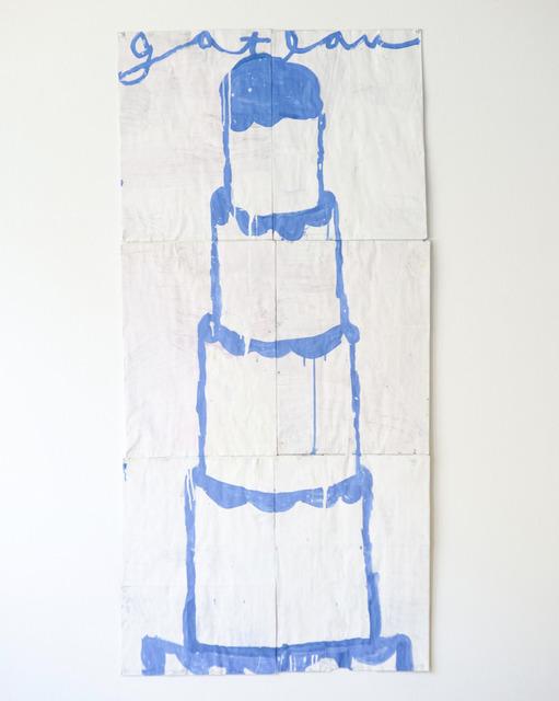 Gary Komarin, 'Cake (Blue Gateau on White)', 2018, Dimmitt Contemporary Art