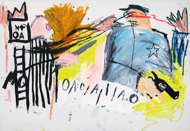 Jean-Michel Basquiat, 'Untitled (Sheriff)', 1981, Painting, Acrylic and oilstick on canvas, Guggenheim Museum