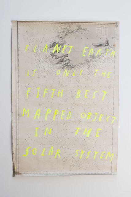 , 'Fathom Chart no. 1 ,' 2016, Bryce Wolkowitz Gallery