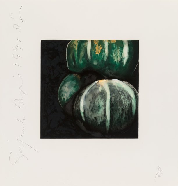 Donald Sultan, 'Squash and Blue Flowers, from Fruits, Flowers, and Fish portfolio', 1991, Heritage Auctions