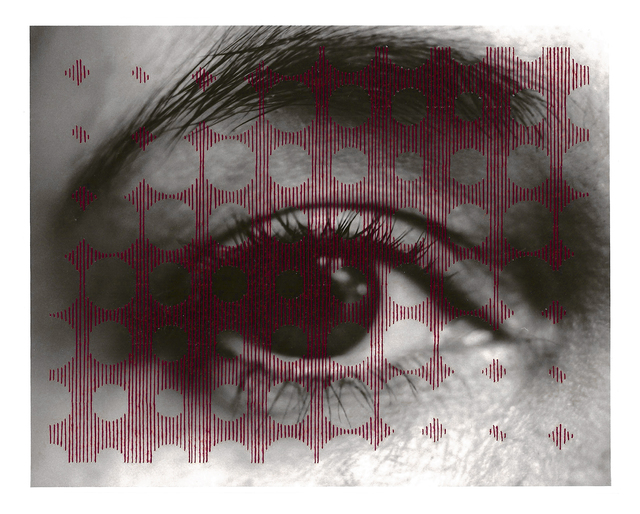 , 'Untitled sewn photograph (eye/circles),' 2008, FRED.GIAMPIETRO Gallery
