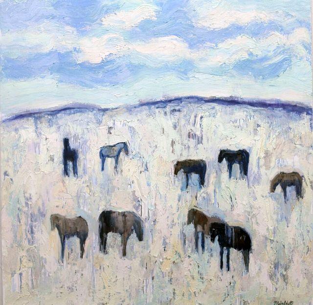 , 'Rapelje Horses #2,' 2014, Valley Fine Art