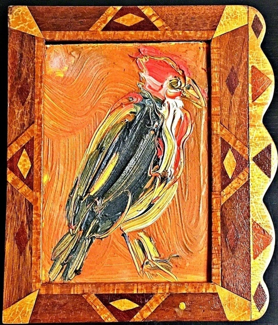 Hunt Slonem, 'Untitled (Robin red breast) inscribed to art critic Ronny Cohen', 1997, Painting, Oil and acrylic on wood painting with handmade artist frame. Signed and inscribed by Hunt Slonem to art critic and writer Ronny Cohen, Alpha 137 Gallery Gallery Auction