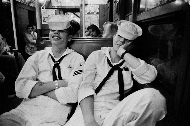 , 'Sailors on the Subway from Coney Island,' 1947, PDNB Gallery