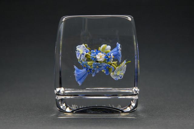 Paul Stankard, 'Blue Flower Botanical Paperweigh', 1, Modern Artifact