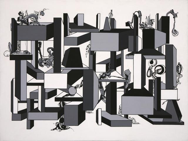 , 'B W Geometric Study D,' 1967, David Richard Gallery