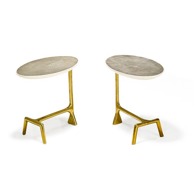 Scala Luxury, 'Pair of Uovo side tables, Italy', Rago