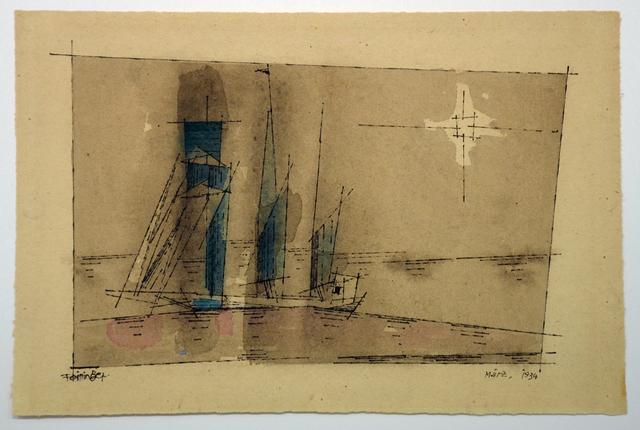 , 'Segler im Mondschein,' 1934, Galerie Schwarzer
