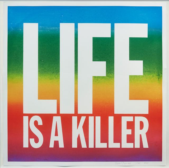 John Giorno, 'LIFE IS A KILLER', 2017, Print, Archival inkjet print, Cahiers d'Art