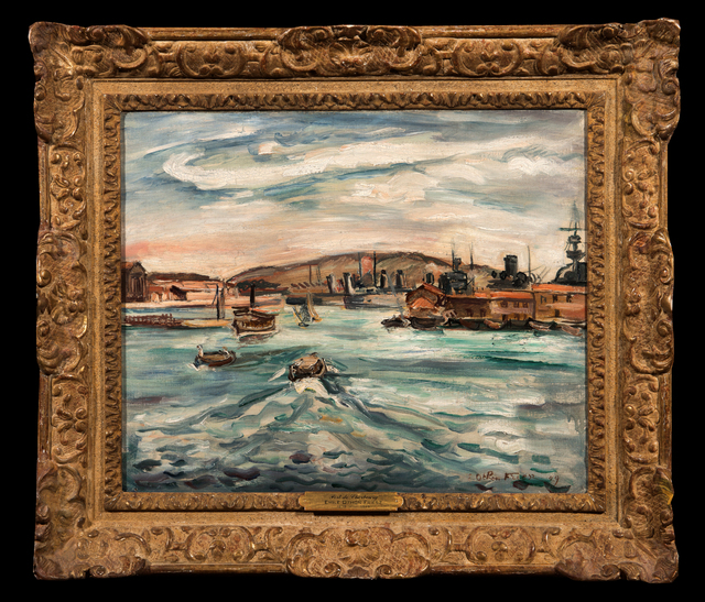 Achille Emile Othon Friesz, 'Port de Cherbourg', 1929, Painting, Oil on canvas, Trinity House Paintings