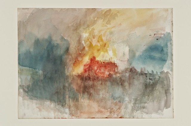 , 'Fire at the Tower of London Sketchbook [Finberg CCLXXXIII], A Fire at the Tower of London,' 1841, de Young Museum