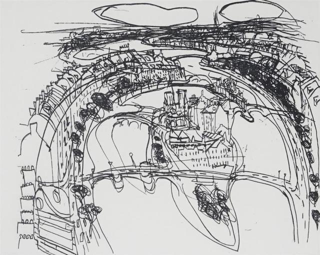 Brett Whiteley, 'Ile de la Cite (from 'Paris Regard de Cote' suite)', 1990, Angela Tandori Fine Art