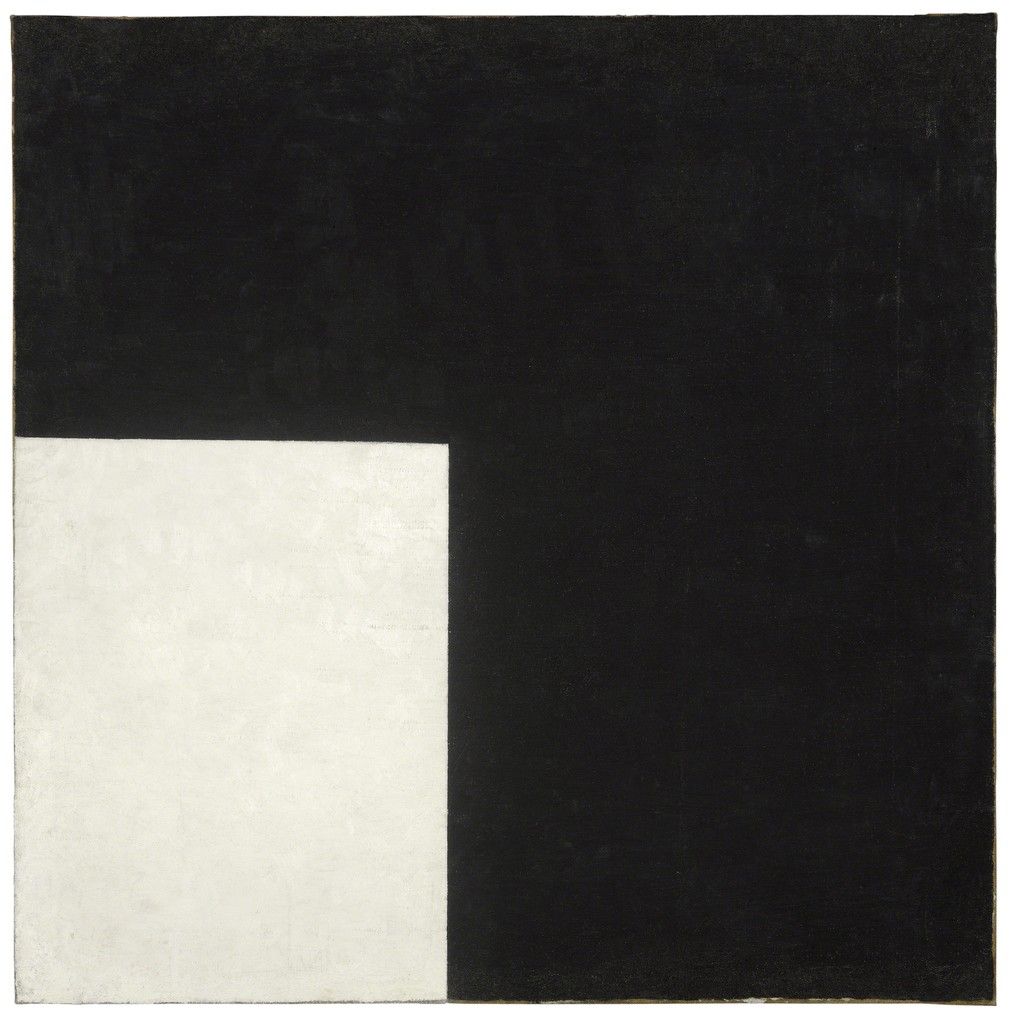 Black and White. Suprematist Composition