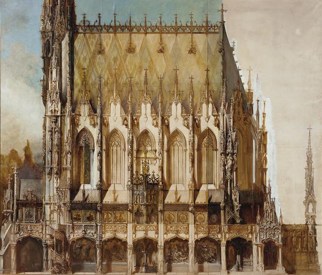 , 'Gotische Grabkirche St. Michael, Lateral View,' 1883, Belvedere Museum