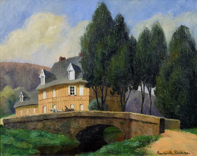 Paulémile Pissarro, 'La Maison Normande au Bord du Ruisseau', 20th century, Stern Pissarro